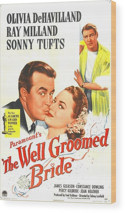 1940s Movies Wood Print featuring the photograph The Well Groomed Bride, Us Poster by Everett