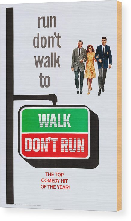 1960s Movies Wood Print featuring the photograph Walk, Dont Run, Us Poster Art by Everett