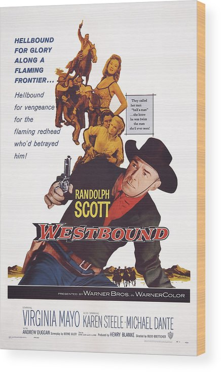 1950s Poster Art Wood Print featuring the photograph Westbound, Us Poster Art, Randolph by Everett