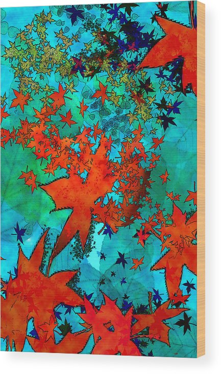 Landscape Wood Print featuring the digital art Where Do Leaves Go by Sladjana Lazarevic