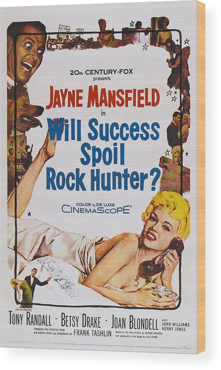 1950s Poster Art Wood Print featuring the photograph Will Success Spoil Rock Hunter, Us by Everett