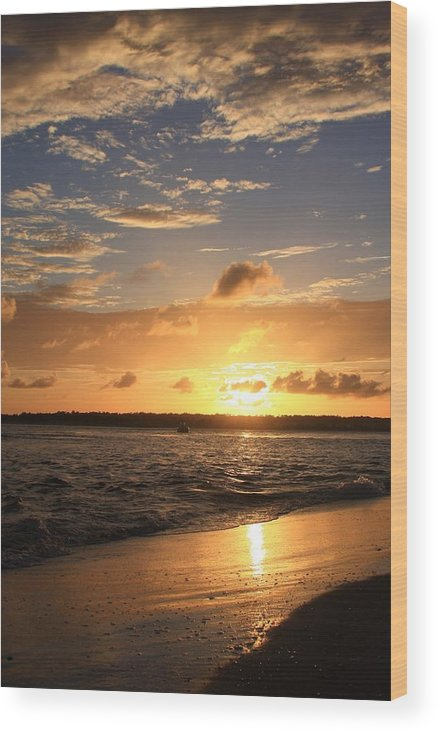 Michael Weeks Wood Print featuring the photograph Wrightsville Beach Sunset by Mountains to the Sea Photo