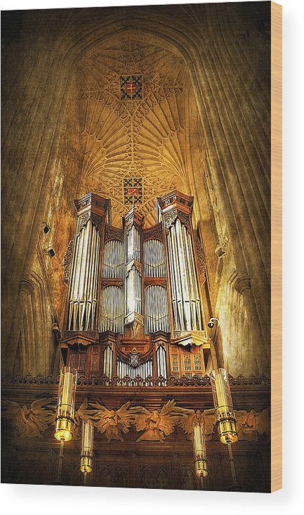 Abbey Wood Print featuring the photograph Organ by Svetlana Sewell