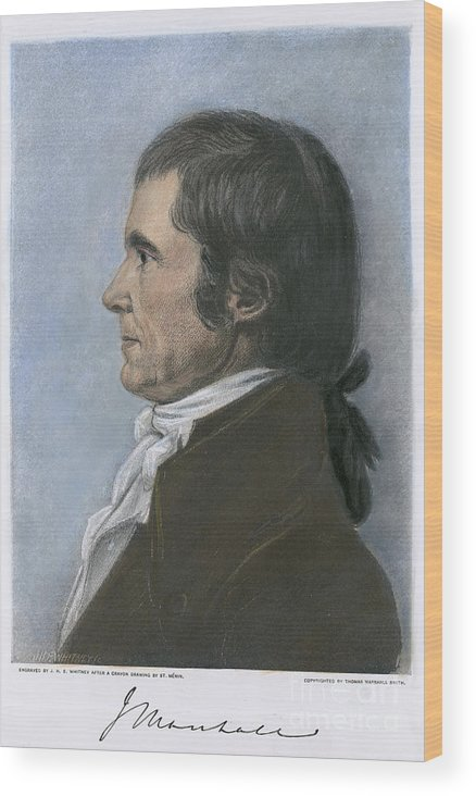 1808 Wood Print featuring the photograph John Marshall (1755-1835) by Granger