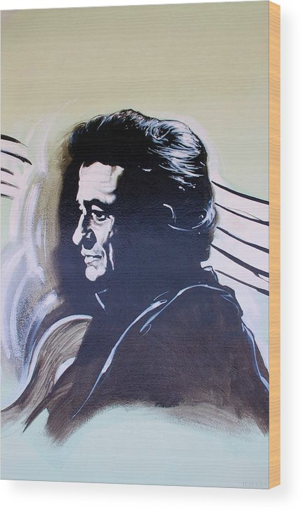 Johnny Cash Wood Print featuring the photograph Cash by Rob Hans