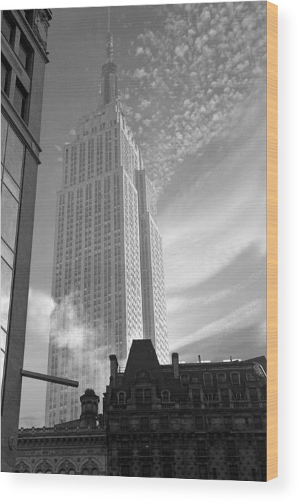 History Wood Print featuring the photograph Empire State by David Halperin