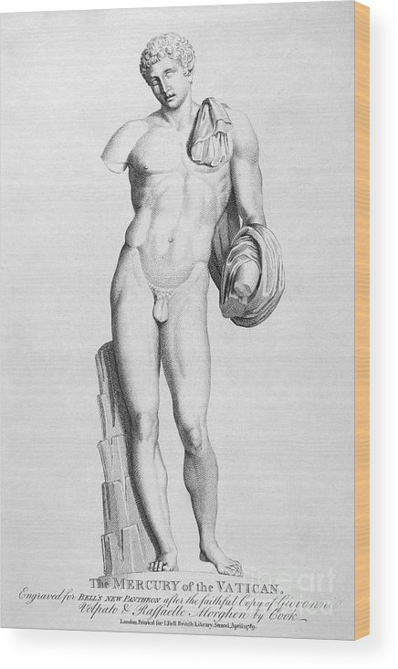 Ancient Wood Print featuring the photograph Hermes/mercury by Granger