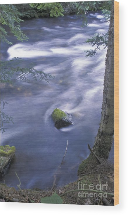Canadian Wood Print featuring the photograph River Time Exposure by Gordon Wood