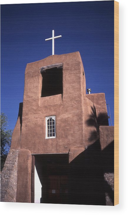 San Miguel Mission Wood Print featuring the photograph San Miguel Mission by Greg Kopriva