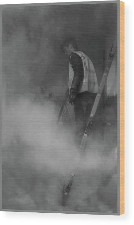 Smoke Wood Print featuring the photograph Street Scene by Guy Ciarcia