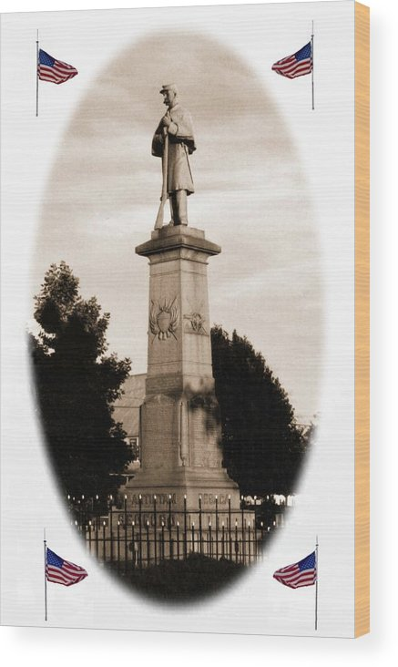Civil War Wood Print featuring the photograph 102108-2 Rememberance. by Mike Davis