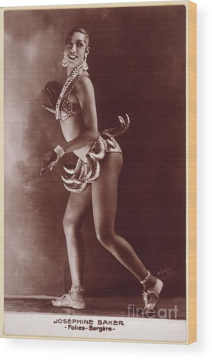 1929 Wood Print featuring the photograph Josephine Baker (1906-1975) by Granger