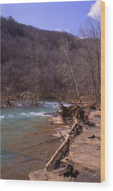 Wood Print featuring the photograph Long Pool Log Jam by Curtis J Neeley Jr