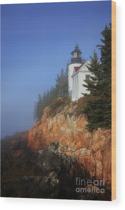 Park Wood Print featuring the photograph Bass Harbor Lighthouse, Acadia National Park by Kevin Shields