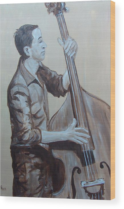 Bass Wood Print featuring the painting Bass Man II by Pete Maier