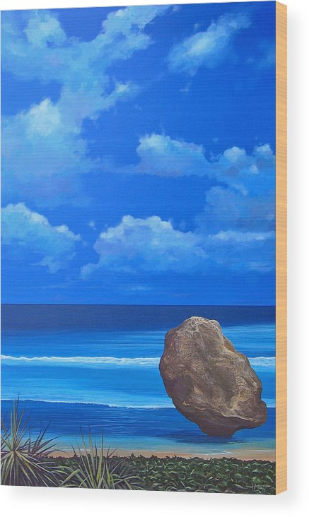 Barbados Wood Print featuring the painting Bathsheba by Hunter Jay