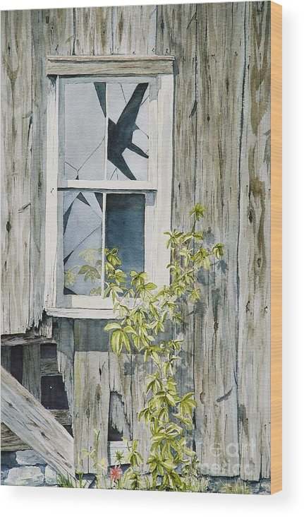 Barn Wood Print featuring the painting Inner Beauty by Jackie Mueller-Jones