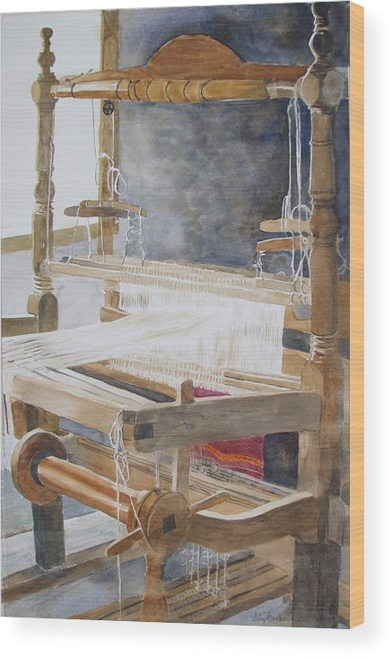 Loom Wood Print featuring the painting Legacy by Ally Benbrook