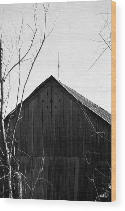 Ansel Adams Wood Print featuring the photograph lloyd-shanks-barn-1BW by Curtis J Neeley Jr