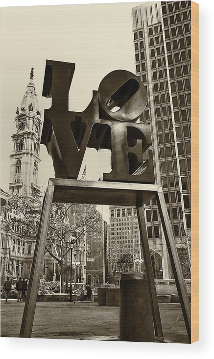 Love Wood Print featuring the photograph Love Philadelphia by Jack Paolini