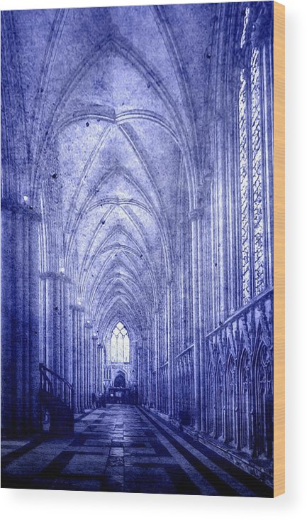 Abbey Wood Print featuring the photograph Minster In Blue by Svetlana Sewell