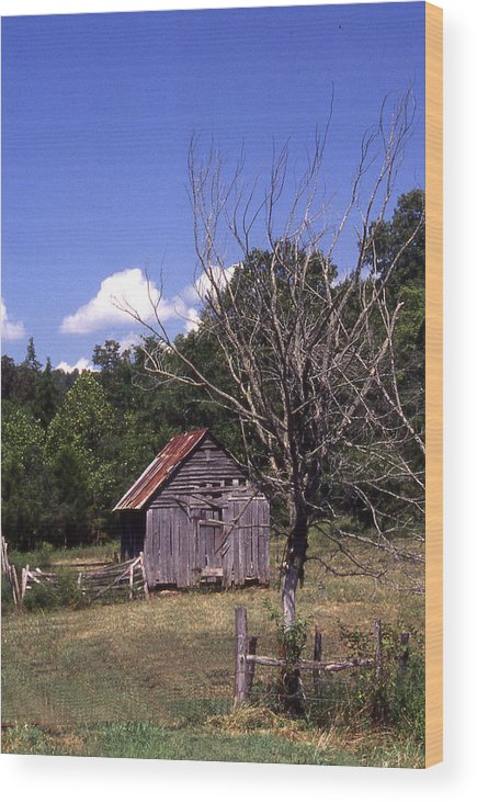 Wood Print featuring the photograph Old Shack by Curtis J Neeley Jr