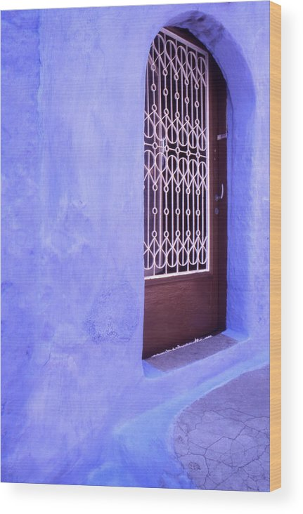 Greece Wood Print featuring the photograph Simply Blue by Steve Outram