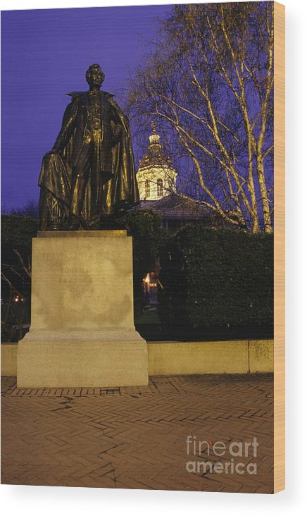 Concord Wood Print featuring the photograph State Capitol Building - Concord New Hampshire Usa by Erin Paul Donovan