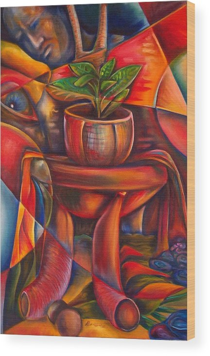 Paintings Wood Print featuring the painting Still Life by Horacio Montes