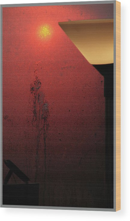 Lamps Wood Print featuring the photograph Strange Sunrise Out There by Guy Ciarcia