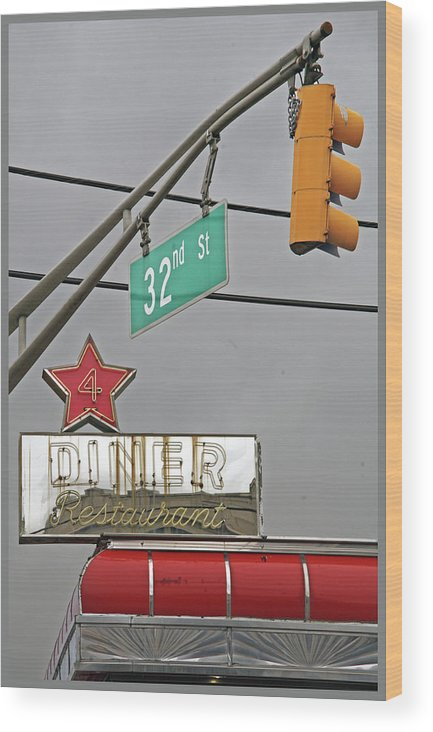 Diners Wood Print featuring the photograph The Diner by Guy Ciarcia