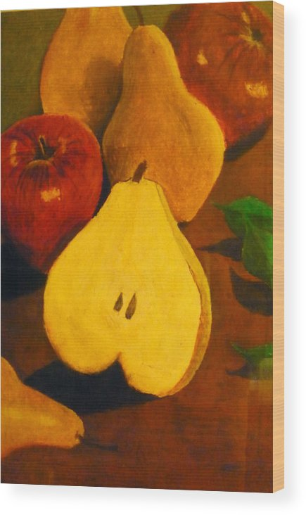 Fruits Wood Print featuring the painting The Fruits by Christian Hidalgo