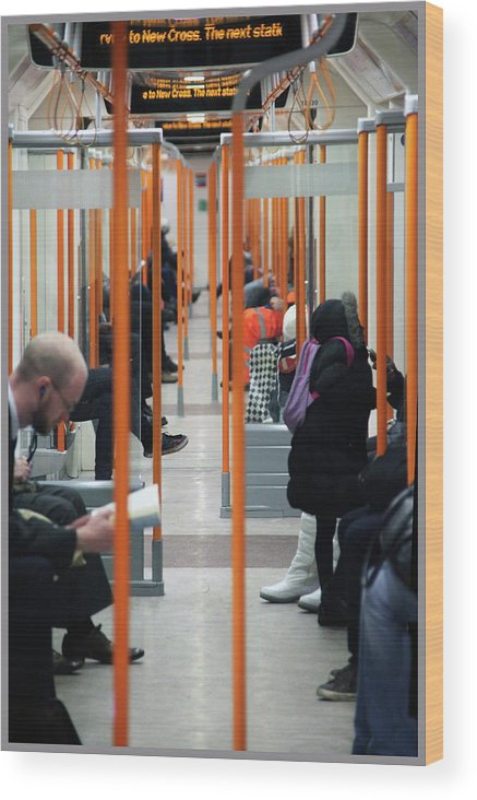 London Wood Print featuring the photograph The Underground by Guy Ciarcia
