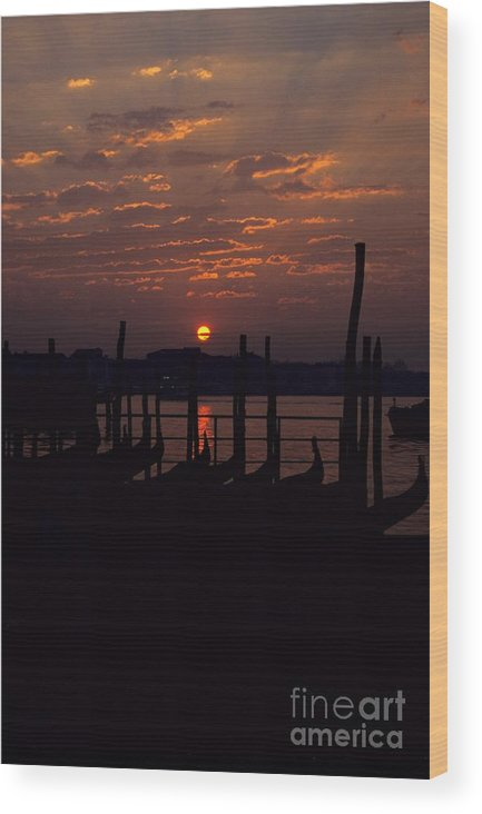 Venice Wood Print featuring the photograph Venice Sunrise by Michael Henderson