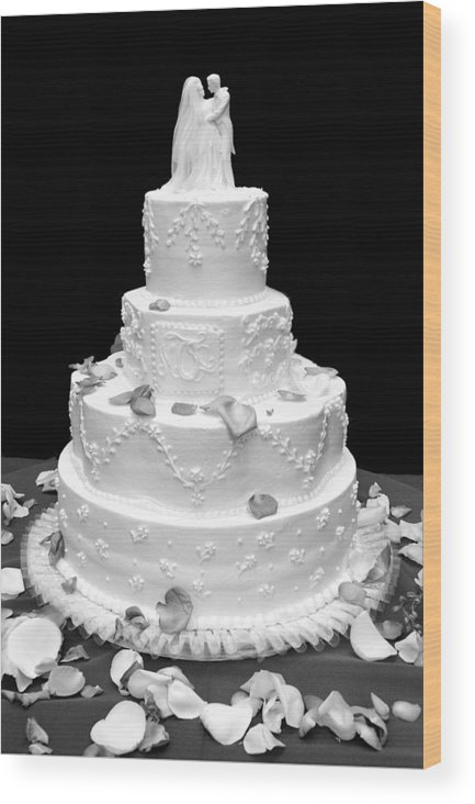 Wedding Wood Print featuring the photograph Wedding Cake by Marilyn Hunt