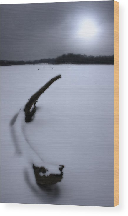 Winter Wood Print featuring the photograph Winter Moonrise by Kenneth Krolikowski