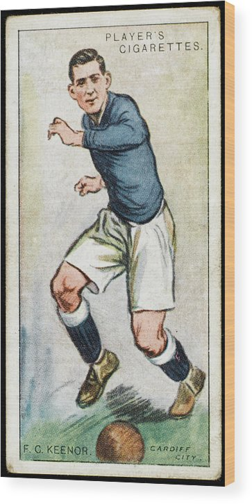 Keenor Wood Print featuring the drawing Fred Keenor, Player For Cardiff City by Mary Evans Picture Library