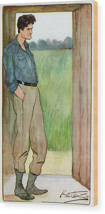 Godfrey Wood Print featuring the drawing (sir) Godfrey Tearle English Actor by Mary Evans Picture Library