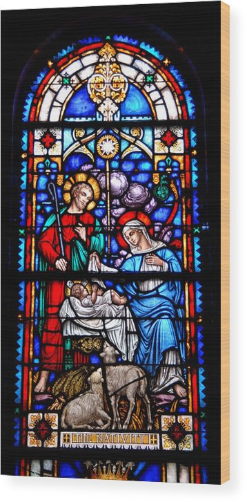 Stained Glass Art Wood Print featuring the photograph Stained Glass 47 by Joyce StJames