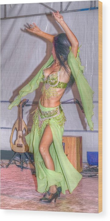 Dancer Wood Print featuring the photograph Exotic Dancer by Rod Jones