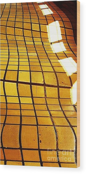 Tile Wood Print featuring the digital art Sunlight On Tile Floor by Kenna Westerman