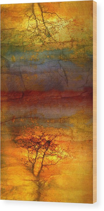 Trees Wood Print featuring the photograph The Soul Dances Like A Tree In The Wind by Tara Turner