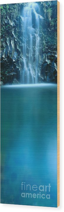 Active Wood Print featuring the photograph Falls Pool by Carl Shaneff - Printscapes