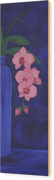 Marinella Owens Wood Print featuring the painting Orchide In A Vase by Marinella Owens