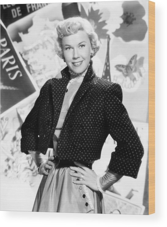 1950s Portraits Wood Print featuring the photograph Doris Day, 1953 by Everett