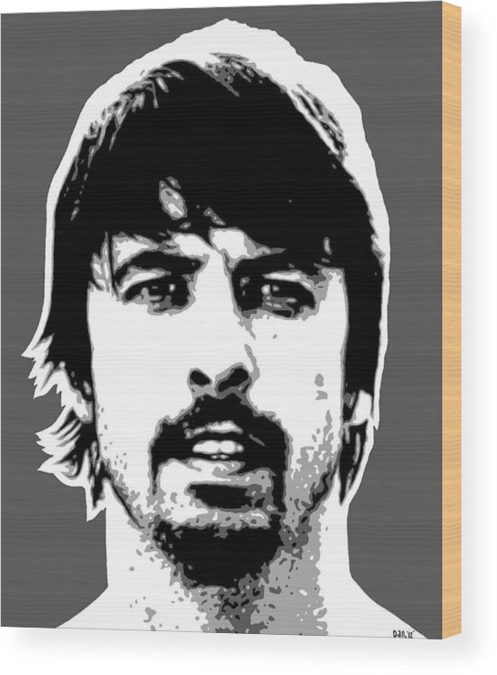Wood Print featuring the painting Dave Grohl by Dan Carman