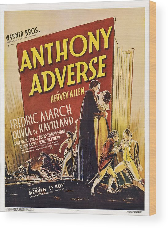1930s Movies Wood Print featuring the photograph Anthony Adverse ,from Left Olivia De by Everett