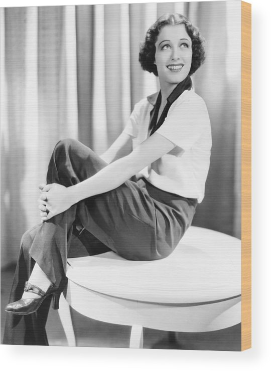 1930s Fashion Wood Print featuring the photograph Ellen Drew, 1936 by Everett