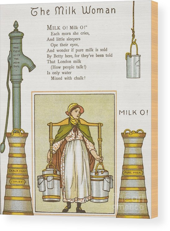 Human Wood Print featuring the photograph Fake Milk, 1880s Poem by British Library