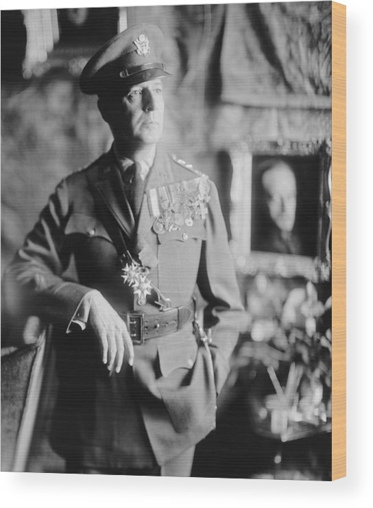 History Wood Print featuring the photograph General Douglas Macarthur, Ca. 1940. He by Everett